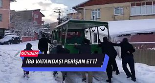 İBB Vatandaşı Perişan Etti Cenaze Aracında Kar Lastiği Olmayınca İş Vatandaşa Düştü