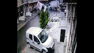 İstanbul'da ölümden saniyelerle kurtuluş kamerada !