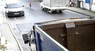 Avcılar'da yürek yakan olay, kamyonet minik Umut'un üzerinden böyle geçti