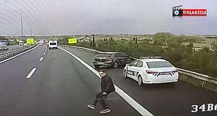 BÜYÜKÇEKMECE TEM Otoyolunda doktorun hayatını kaybettiği kaza anı kamerada